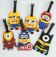 Wholesale New Fashion Bag Parts Accessories Despicable Me Minions Cos The Avengers Style Lage Tag Name Tag