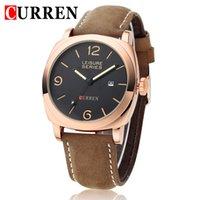 Wholesale Square Design Branded Watches - Brand Curren Watch Men 2016 Fashion Design Men's Luxury Watch Quartz Watches Movement of Military Wrist Watch