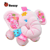animals hides - 1pcs sozzy baby rattle toys animal doll Hide Farm Activity Toy Multi Functional Plush Toy Children pink elephant