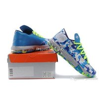 Cheap KD VI Easter Blue White with flower print KD 6 basketball shoes size 40-46 for men