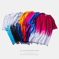 t-shirts no logo - 2016 SUMMER neutral Panelled Cotton Fresh dip dye No printing custom made Nightwear T Shirts you can print you Logo