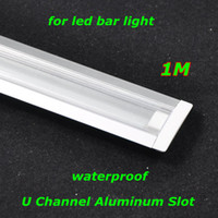 aluminum glass channel - DHL EMS waterproof M U channel aluminum slot with transparent cover for led bar rigid light SMD5050 Retail