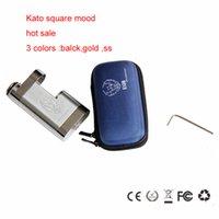 Cheap Competitive price Kato Square Mod Mechanical Mod Battery 18650 Mod KATO Vapor Mod Box Mod DHL free shipping
