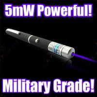 Wholesale car Newest Model Blue Violet Purple mW NM Military Grade Laser Light Pointer Pen Visible Beam PE bag package