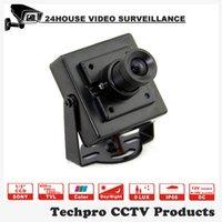 Wholesale square type DC12V Small housing Mini Size CCTV Camera CMOS SONY CCD TVL TVL mm mm Lens Optional