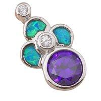 amethyst online - Hot selling online Retail Women s Amethyst Blue fire Opal Fashion jewelry Silver Necklace Pendants Nice OP396A