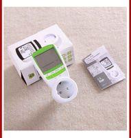 ac energy consumption - Green Color V A AC EU Plug energy meter power KWH Consumption Monitor Analyzer digital watt meters