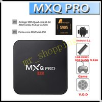 Wholesale S905 MXQ pro Android TV BOX k HD smart media player Android Kodi fully loaded quad core MXQ pro GB GB VS MXQ M8 M8S CS918