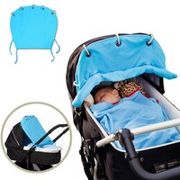 baby stroller carseat - High Quality Baby Stroller Sun Shades Pram Shade Carseat Cover Protect Stroller By Wind Rain Blind Baby Car Awning Blue Color