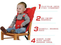 Wholesale 2016 New Baby Eat chair Seat belt Upgrade Portable Multi function Children kid babe dining chair belt seats color edison168