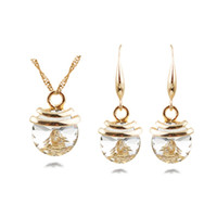 Wholesale 2015 Rushed Limited Others Bohemian African Mexican Jewelry Set Jewelry Fashion Noble Crystal Magic Bean Necklace Earrings Set