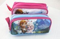 Wholesale 2014 Frozen Pencil case pen bag frozen stationery Hot Kids Favor Party Gift ZL7