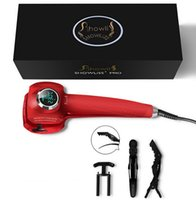 Wholesale Showliss Pro LCD Hair Curler With Free Hair Clips Styler Curling Iron Pro LCD Hair Curler Automatic JJD0101