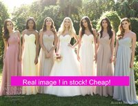 ankle photos - Cheap Under In Stock Bridesmaid Dresses Sweetheart Chiffon Long Plus Size Maid of Honor Wedding Guests Gowns Mint Royal Blue Blush