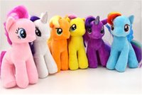 horse doll - Hot My Little Pony Cute cm My Little Pony Plush Horse Rainbow Dash Stuffed Plush Toys Soft Teddy Dolls Set For Baby Boy Girl Toy