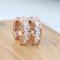 Wholesale Genuine K Yellow Gold Beautiful Carat Forever Brilliant Lab Grown Moissanite Diamond Clip Earrings