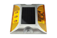 aluminum road studs - LED Solar road stud light New Products Reflective Solar Ground light Aluminum led Path Deck Dock Warning LED Light Yellow