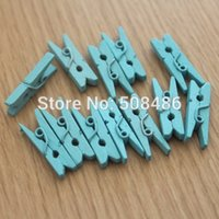 baby clothespins - Pieces Tiffany Blue Wedding Decoration Mini Wooden Clothespins Craft Pegs Baby Shower
