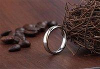 Anillos de plata Baratos-La nueva llegada de moda anillo de plata de plata de ley 925 anillo de la vendimia de plata pura con franja de oro 4 tamaños envío gratuito