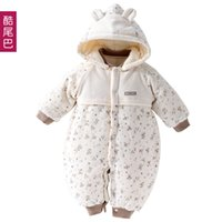 baba clothing - Baby autumn winter clothes baby wadded jacket thickening thermal romper newborn clothes baba warm clothing