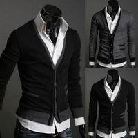 Wholesale 2016 new fashion men sweaters coat men s Long Sleeve cashmere sweater mens knit cardigan