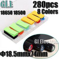 heat shrink - 280pcs For Li ion Battery Flat Diameter MM MM PVC Heat Shrink Shrinkable Tubing Tube Orange