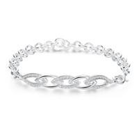 Nouveau Pop 925 Argent CZ Bracelets De Diamant De Design Feuille Charmes Interlocking Chaîne De Liens Infinity Bracelets Pour Femmes Bijoux