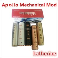 apollo stainless steel - Apollo MOD Mechanical MOD Stainless Steel Black White Brass Red Copper Fit for Battery Electronic E Cigarette Thread Apollo MOD