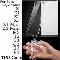 achat en gros de xperia z1 étui souple-Case Ultra mince Perfect Clear Crystal Transparent TPU Soft Cover pour Sony Xperia Z Z1 mini-Z2 Z3 Compact Mini C4 M2 T2 T3 C3 E3 E4G (de A0501)