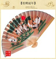 Wholesale I AM YOUR FANS pc Giant Asian hanging Fan for Hanging Hand TO USA Pine tree crane