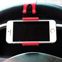Wholesale Universal Car Streeling Steering Wheel Cradle Holder SMART Clip Car Bike Mount for Mobile iphone samsung Cell Phone GPS