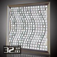 art stone tile - Purple Decoration main material elves TV backdrop simple stone tile art glass mosaic M3049
