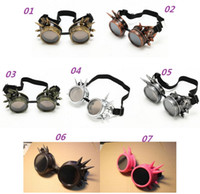 antique mirror frames - 2015 Hot New WELDING CYBER GOGGLES GOTH STEAMPUNK GOGGLES GLASSES COSPLAY GOTH ANTIQUE VICTORIAN WITH SPIKES