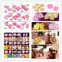Wholesale 2 DIY Cartoon Various Cookie Fondant Cake Sugarcraft Decorate Plunger Cutter Mold Tools