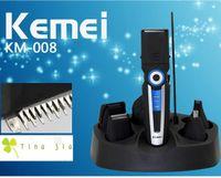 Wholesale 6in1 men trimmer hair clipper beard trimmer nose ear cleaner razor electric shaver men shaving kemei personal care set