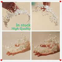 best faux jewelry - In Stock Pearl Bridal Jewelry Beautiful Flower Headband Wedding Accessories Shiny Birthday Party Accessories Best Gift For Girls