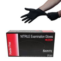 exam gloves - USA Dispatch Black Nitrile Powder Free Medical Exam Tattoos Piercing Gloves Size Small Gloves per Box Tattoo accessories supplies