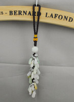 Wholesale Jade Gourd Hangings Car Accessories Brown Tassel Traditional For Gift Symbolizes Lucky and Safe