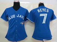 women athletic wear - Blue Jays Reye Blue Women s Baseball jersey Athletic Outdoor Apparel Baseball Wear Allow Mix Order