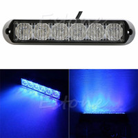 Wholesale LED DRL Car Truck Emergency Beacon Lamp Light Bar Hazard Strobe Warning Blue