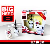 Wholesale RC Flying Baymax Robot Toys RC InductionToys Big Hero Baymax Sensor Toys for Kids Gift