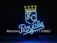 Wholesale KC ROYALS HANDCRAFTED REAL NEON GLASS TUBE BEER BAR NEON LIGHT SIGN