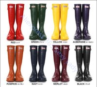 wellies - 2015 Hot Brand Waterproof women Rain boots fashion Leather women s water Rubber shoes wellies Summer Autumn Rainboots