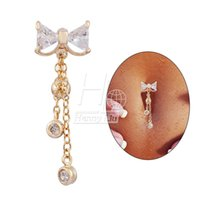 Wholesale 2015 New Fashion Belly Ring Dangle Belly Clear Navel Bar Body Jewelry Piercing Drop Shipping