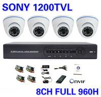 al por mayor sony sistema 8ch-CCTV NVR Seguridad IP Sony 1200TVL Inicio 4CH Sistema de cámara 8CH Full 960H DVR al aire libre IR Cámara DIY Kit Sistema de vigilancia de vídeo