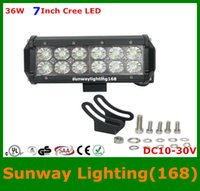 Wholesale 7Inch W Cree LED Light Bar Off Road Driving Car SUV Jeep ATVs Truck Train Boat Hunting Fishing LED Lights