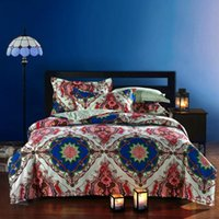 Cheap 3D Vintage 100% cotton brand bedding comforter set bedspread duvet cover queen size sheet bed in a bag home texile home quilt linen cheap