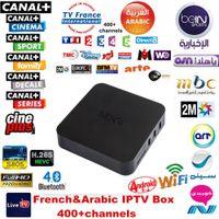 Wholesale MXQ with year Live TV Arabic French IPTV account S805 Quad Core Smart TV G G XBMC Kodi Miracast MXQ tv box arabic iptv