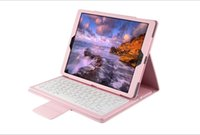Wholesale For Apple iPad pro Leather Wireless Bluetooth Keyboard Case Cover for iPad Pro inch leather keyboard cover