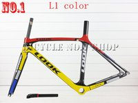 Wholesale look full carbon fiber road bike frame racing bicicleta bicycle Complete frameset look stem and sell colnago c60 de rosa s5 r5 frame